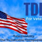 USA Flag with text TDIU for Veterans - Total Disability Due to Individual Unemployability