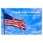 """Picture of USA Flag with text """"Thank you Veterans"""""""