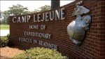 Picture of Main Gate Entry Sign at USMC base Camp Lejeune