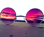 Picture of rose colored glasses changing image